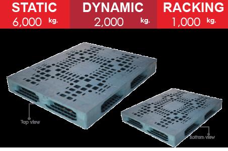 พาเลทพลาสติก : MAD1012CR150-10