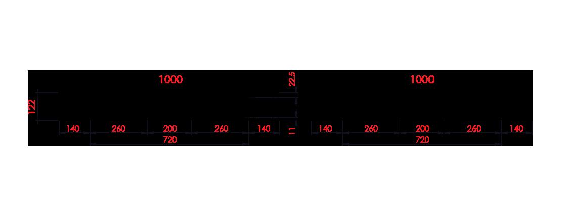 พาเลทพลาสติก : CDA1010N-H122