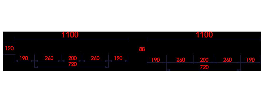 พาเลทพลาสติก : CDA1111N-H120